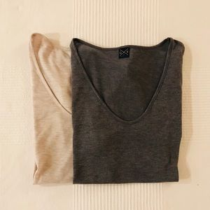 Pair of Gentle Fawn ABYSS V Neck Tees